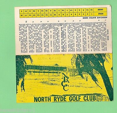 #d83.  1968  Score Card From North Ryde Golf Club
