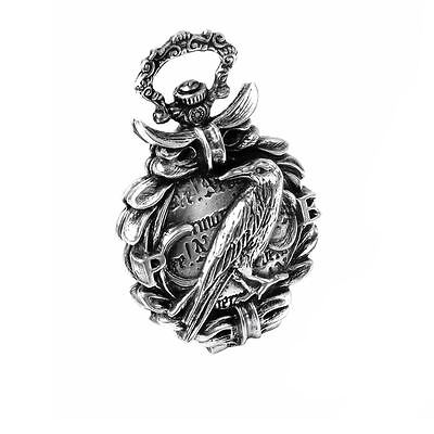 Alchemy Gothic Edgar Allan Poe The Nevermore Pewter Fob Watch BRAND NEW