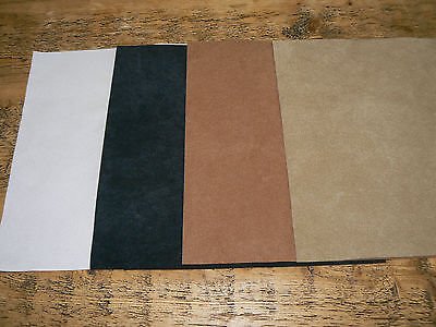 Suedine Paw Fabric, 9 x 9 inch, Med. Brown (ThirdFrom left)