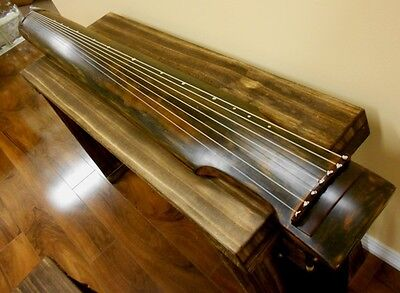 Concert Chinese Aged Fir Guqin 7-stringed Zither Instrument - Zhong Ni Style