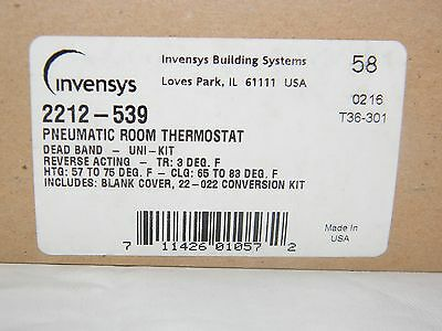New Invensys 2212-539 Pneumatic Room Thermostat Kit 2212539 (T36-301,C3-42) Shaw