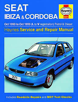 Haynes Seat Ibizia And Cordoba Oct 93 To Oct 99 L To V Reg Petrol And Diesel