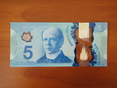 Bank Of Canada Canadian $5 Polymer Banknote Brand New Unc Beautiful Bill
