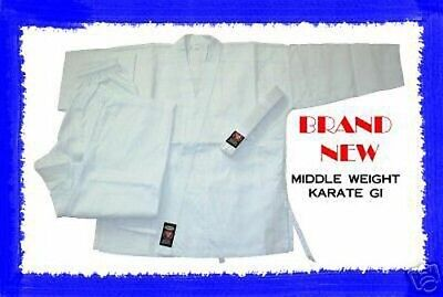 White Middle Weight Karate Uniform Gi Size 6 BRAND NEW!