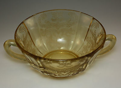 FEDERAL DEPRESSION GLASS MADRID CREAM SOUP CUP, HANDLED