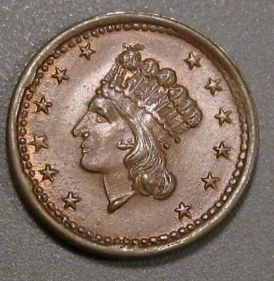 CIVIL WAR TOKEN  INDIAN HEAD SHIELD UNION FOREVER 1864 CWT 54/342