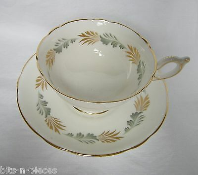 Coalport  SONNET English China duo cup saucer white with gold