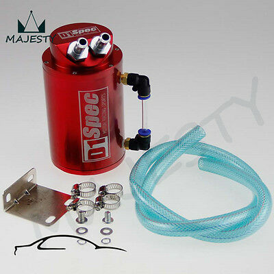 Unverisal Aluminum Alloy Reservior Oil Catch Can Tank red