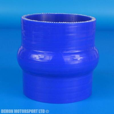 """2.38"""" / 60mm Silicone Hump Hose Straight Coupler ( Blue ) Boost Intercooler Pipe"""