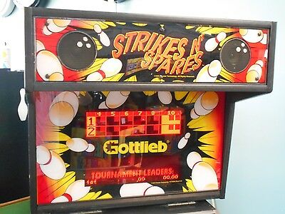 Strikes and Spares Bowling Pinball Machine by Gottlieb
