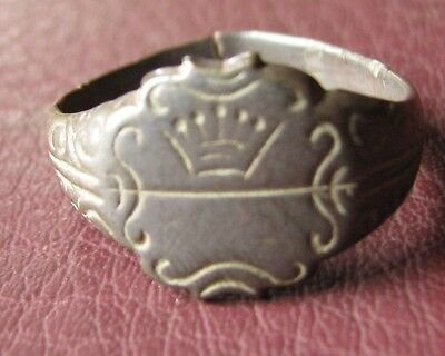 Antique Bronze RING   19th to early 20th Century Sz: 11 US 20.5mm 11418
