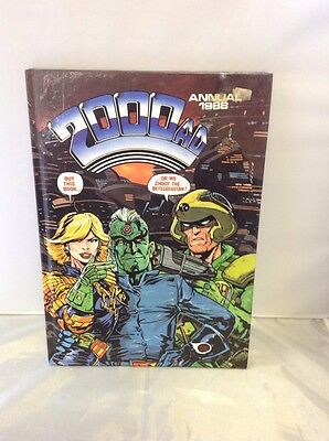 2000 AD Annual Book Hardback UnClipped 1988 Cartoon MH65
