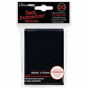 ULTRA PRO CARD SLEEVES Black Deck Protectors (50) MTG / POKEMON