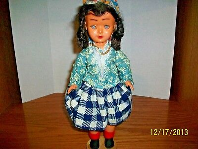 Vintage 1940's Portugiesse Celluloid Doll with Original Clothing