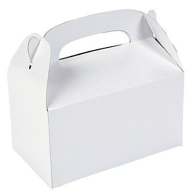 White Party Supplies Lolly Treat Favour Cake Boxes (Pack Of 6) Australian Seller