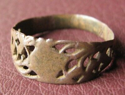 Antique Bronze RING > 19th to early 20th Century Sz: 11 1/4 US 20.75mm 11411