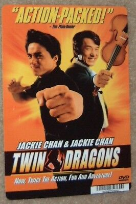 TWIN DRAGONS movie baker card JACKIE CHAN **this is NOT a dvd**