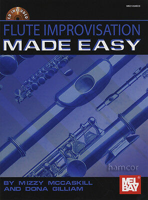 Flute Improvisation Made Easy Sheet Music Book with CD