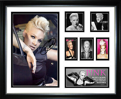 Pink Signed Framed Memorabilia  NEW Design