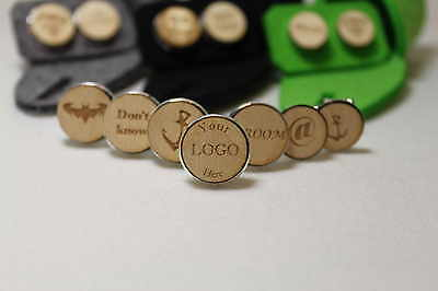 Stainless Steal Personalised Wooden Finished Cufflinks. Wedding etc