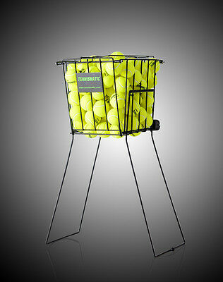 Tennis Balls Pick-Up Basket with wheels ,  120 Balls capacity pbl125-blk