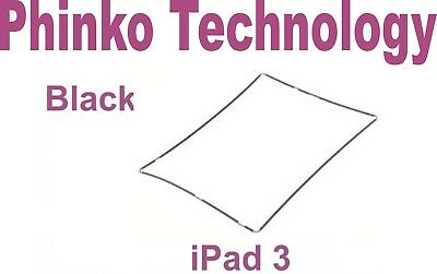 iPad 3 Touch Screen Glass Digitizer Plastic Middle Mid Frame Bezel Screen Black