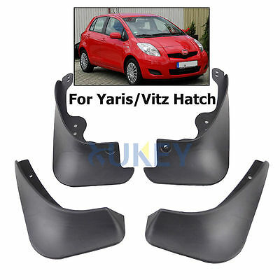 Fit For 05~2011 Toyota Yaris Hatch Molded Mud Flap Flaps Splash Guards Mudguard