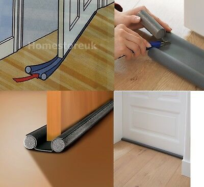 Double Sided Under Door Foam Draught Excluder Insulation Seal Stop Cold Air  303