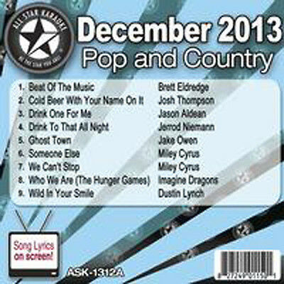 All Star Pop & Country Karaoke December  Disc 1312A