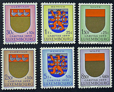 LUXEMBOURG timbres/Stamps Yvert et Tellier n°570 à 575 (e) n** (cyn8)