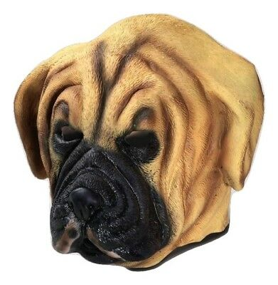 Deluxe Dog Browns Puppy Mask Latex Animal Costume Accessory Adult Halloween