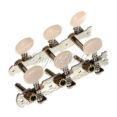 2x Classical Guitar String Tuning Keys Pegs Machine Heads 3 + 3 Tuner UK SELLER