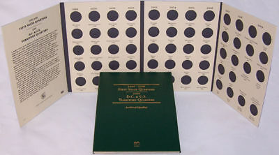Folder w/ B U Philadelphia Mint Quarters - (58) (57 1999 - 2009 + 1 Pre 1999)