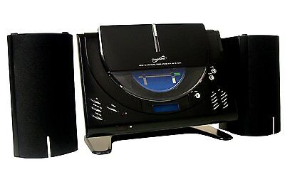 New Supersonic Wall Mountable Cd Mp3 Player Home Stereo System Am/fm Radio