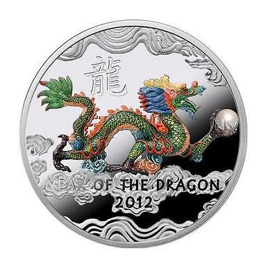 Niue 2011 1$ Year of the Dragon 2012 - Dragon with a pearl Silver Coin