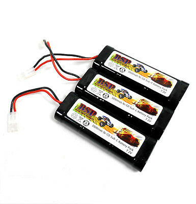 BSP RC Electric Model 7.2v 1800mah Ni-CD Rechargeable Battery Pack Tamiya x 3