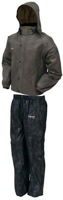 Frogg Toggs All Sport Rain Suit Stone/Black X-Large AS1310-105XL 2851-0426