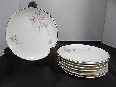 "Lot of 7 Fine China of Japan ""Golden Rose"" Bread Plates 6.25"""