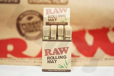 "1(roll) (4.75""x 3.25"") AUTHENTIC Raw All Natural Bamboo Cigarette Rolling Mats"