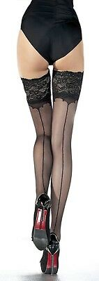 Fiore Obsession Sunita Stockings Thigh High Hold Up Nylons Hosiery FREE SHIP