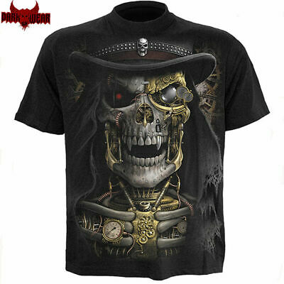 SPIRAL DIRECT STEAM PUNK REAPER T-Shirt,Top/Tee/ Biker/Grim Reaper/Skull/Goth