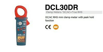 SANWA DCL30DR AC RMS mini clamp meter with peak hold function