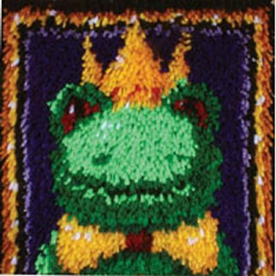 Frog Prince Latch Hook Rug Kit 12 x 12 Inches Square