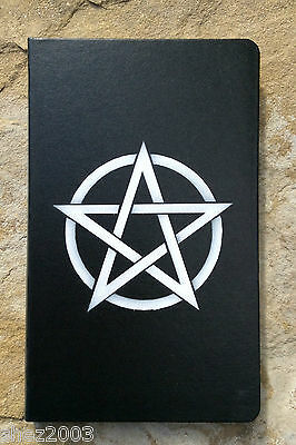 Black Journal or Book of Shadows with Pentagram ~ Altar ~ Spells ~ Wicca ~ Pagan