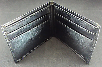Men's Credit Card Wallet ~ Hanig & Company, Genuine Split Leather, Black NEW