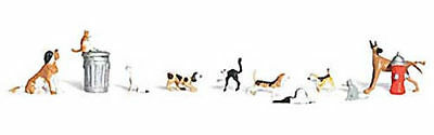 NEW Woodland Scenics Dogs & Cats O A2725