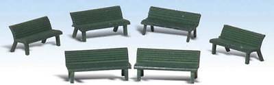 NEW Woodland Scenics Park Benches O A2758