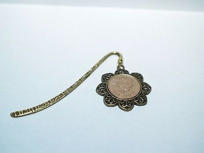 1943 74th Birthday Anniversary Farthing Coin Bookmark with Shiny Farthing