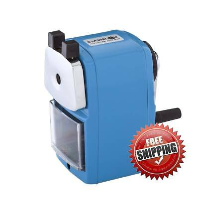Original Classroom Friendly Pencil Sharpener, Blue, Quiet Classroom, Manual
