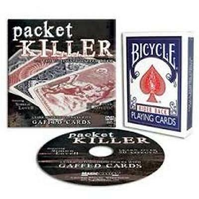 Packet Killer Ultimate Gaffed Bicycle Deck & Dvd Simon Lovell Magic Card Tricks